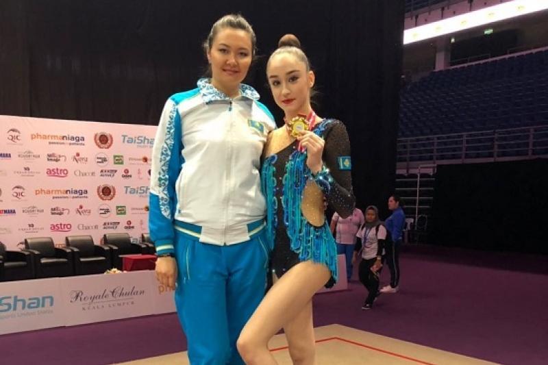 哈萨克斯坦选手获亚洲艺术体操锦标赛冠军