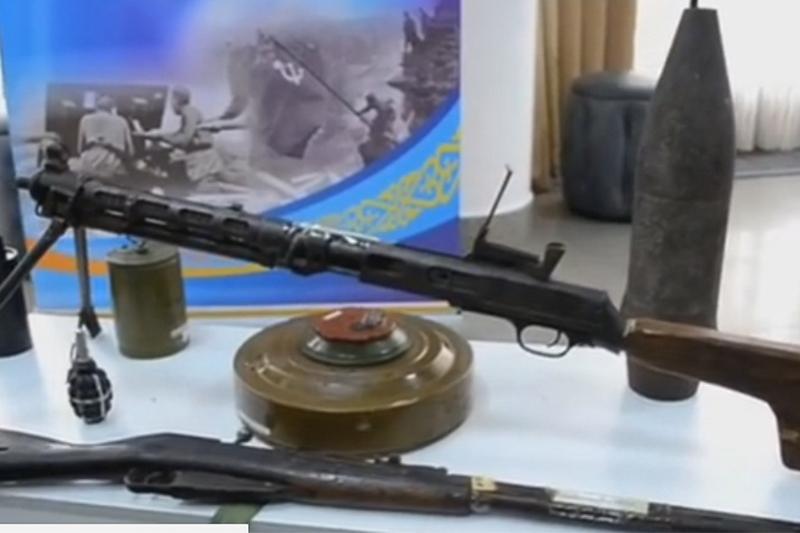 Раритетное оружие представили на выставке в Кокшетау
