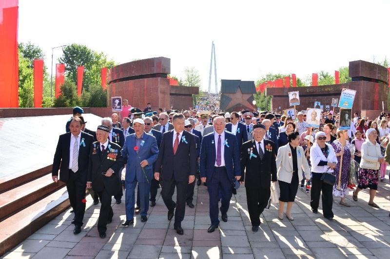 Память павших за Победу почтили в Шымкенте