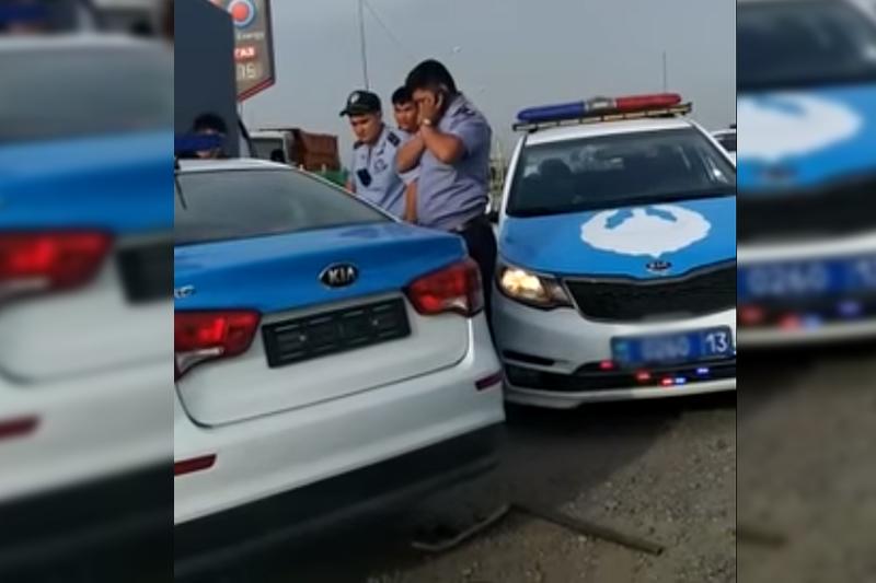 ОҚО-да 15 жастағы жасөспірім полицейдің көлігін соғып кетті