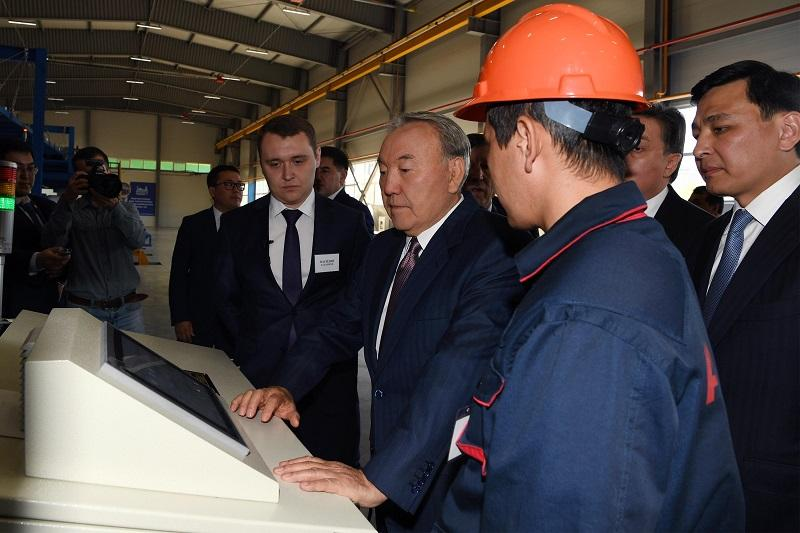 Head of State visits Agran plant in Uralsk