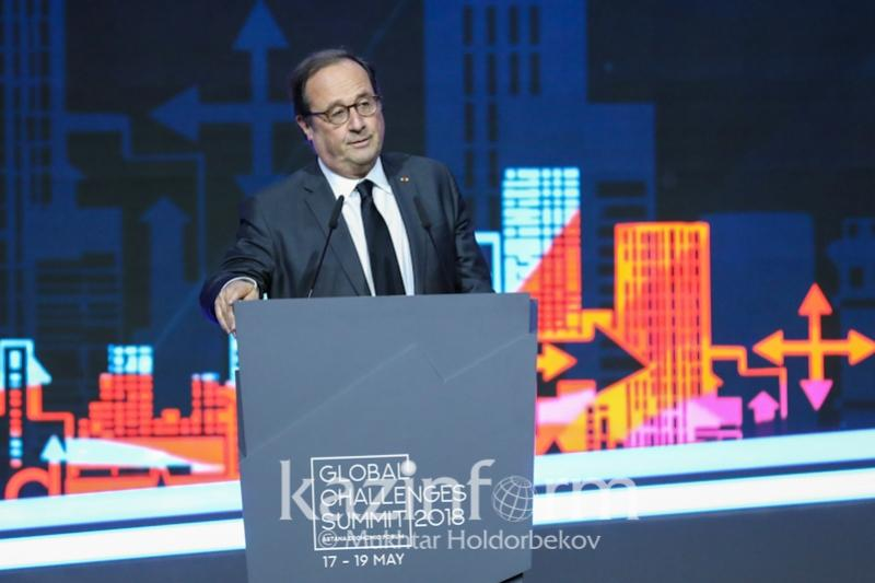 Francois Hollande backs Kazakh President's G-Global initiative