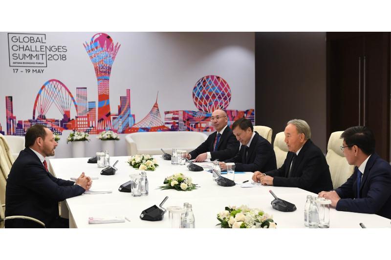 Kazakh Leader receives Yandex CEO