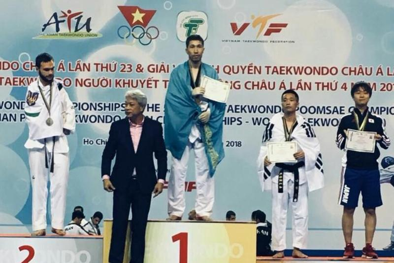 Паратаеквондист из Атырау стал чемпионом Азии