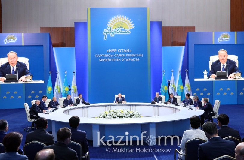 President Nazarbayev chairs Nur Otan Party session in Astana