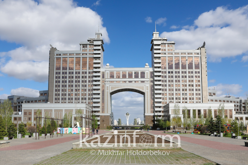KazMunayGas - one of first buildings constructed in Astana's downtown