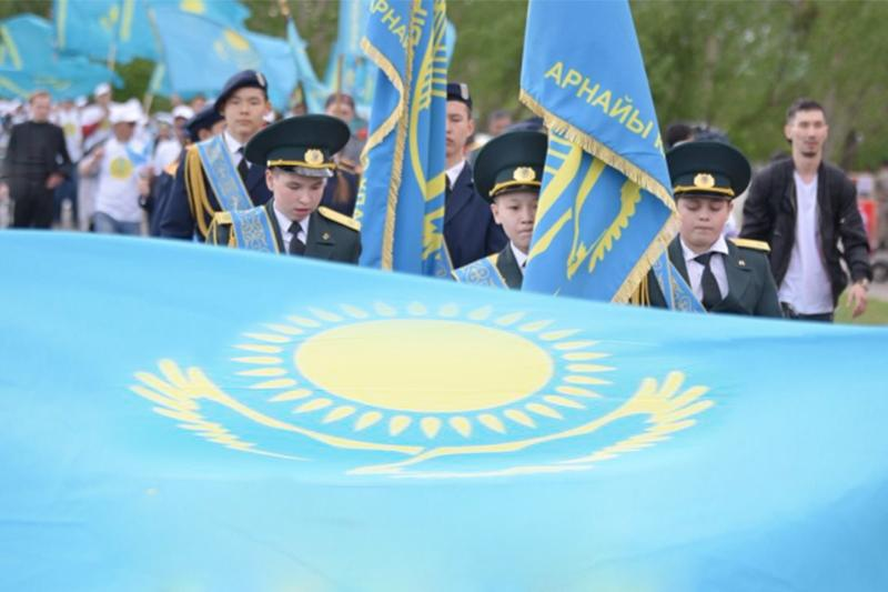 Марш в честь Дня госсимволов Казахстана прошел в Астане