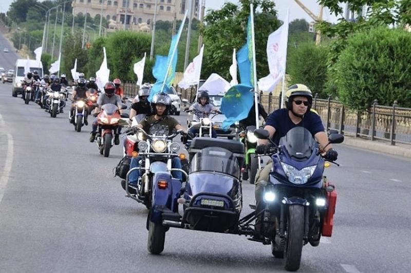 Мотопробег в честь города-миллионника прошел в Шымкенте