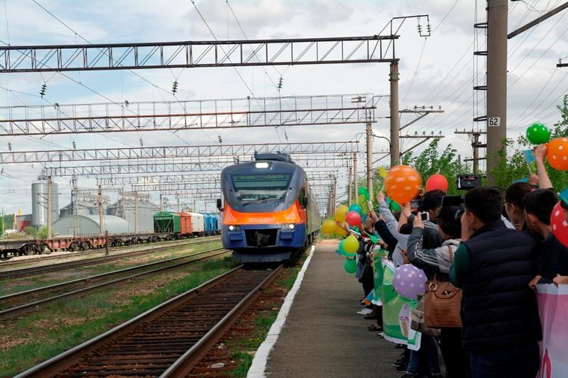 Электропоезд «Астана - Володарское» запустили в СКО