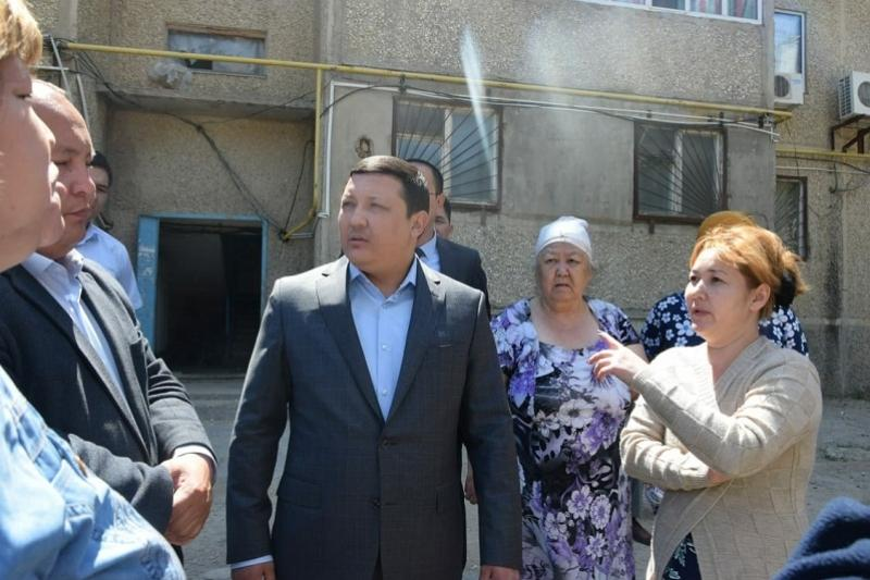 Проблему с нехваткой воды  решают в городе Кульсары