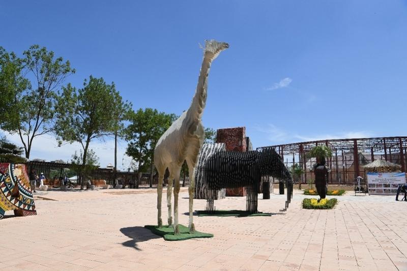Африканскую зону открыли в шымкентском зоопарке