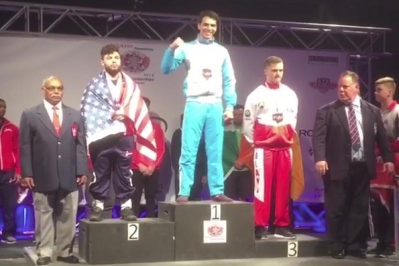 17-летний казахстанец стал чемпионом мира по пауэрлифтингу