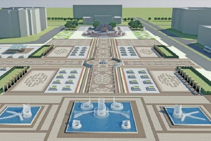 Площадь Исатая-Махамбета реконструируют в Атырау