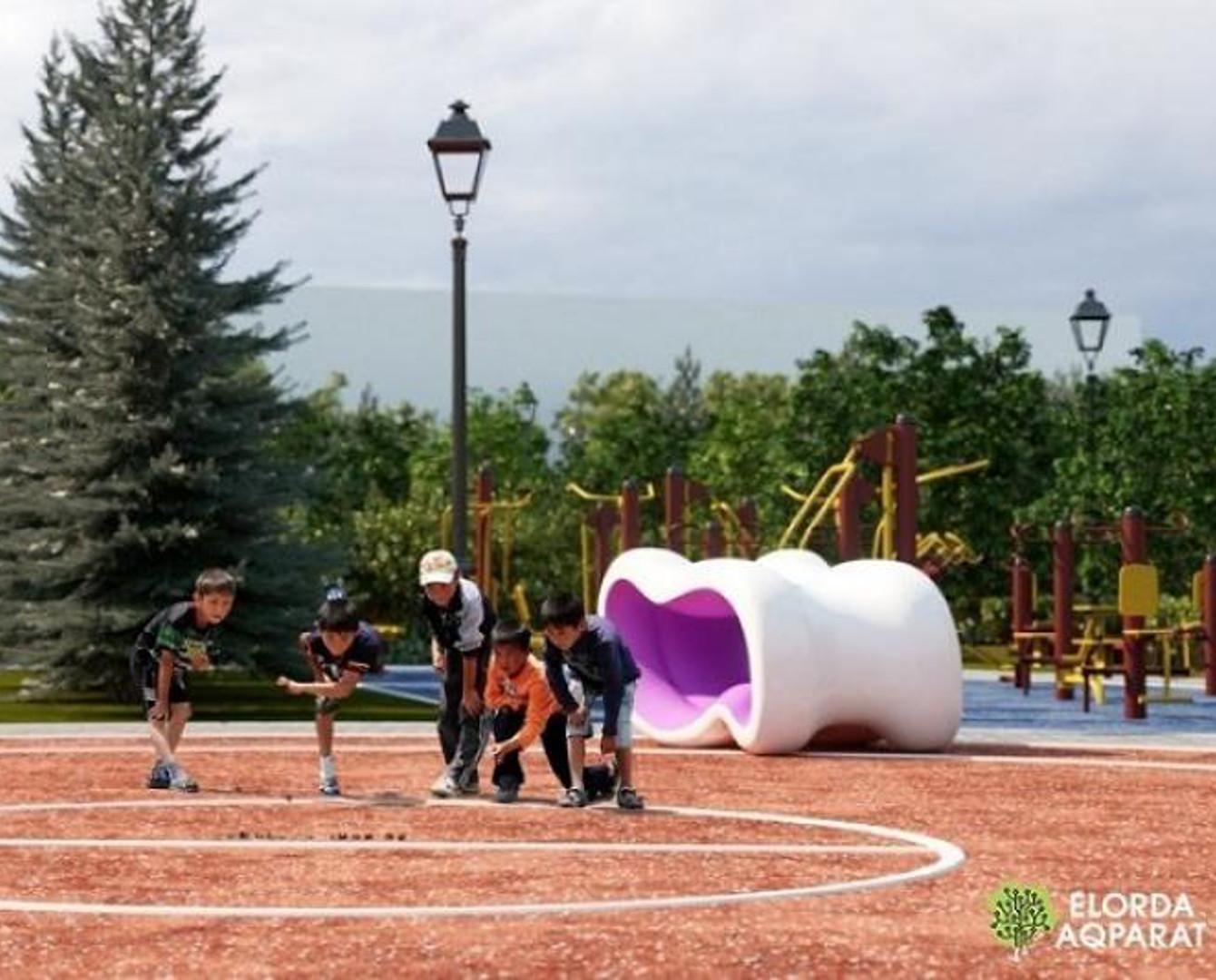 Площадь для игры в асык строят в Астане