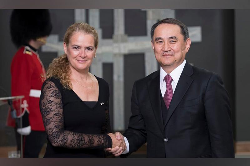 Kazakh Ambassador presents credentials to Governor General of Canada