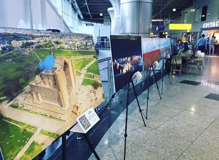 Выставка фотографий Туркестанской области открылась в аэропорту Алматы