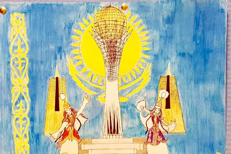 巴黎举行哈萨克族裔儿童绘画比赛