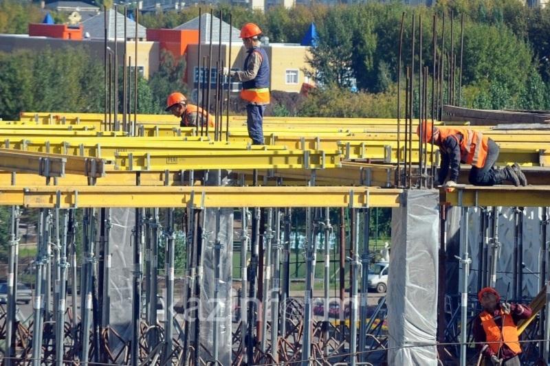 В Казахстане увеличился объем строительных работ