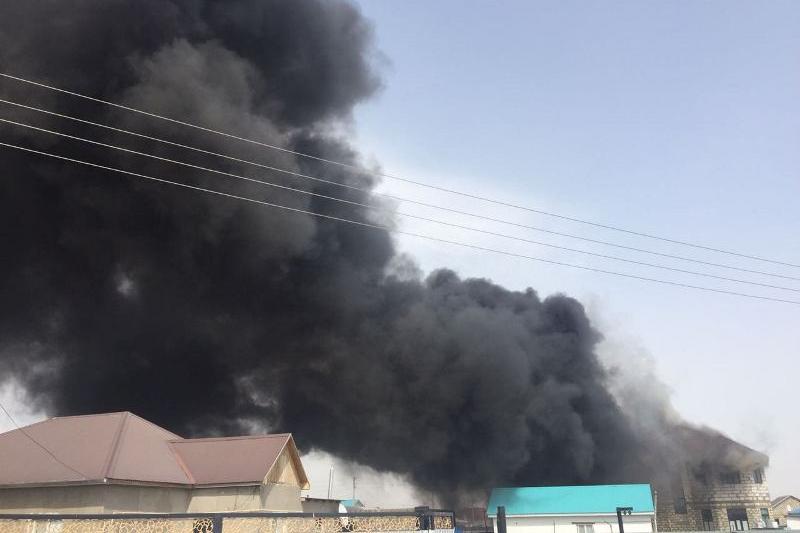 Мужчина пострадал в Атырау при тушении пожара