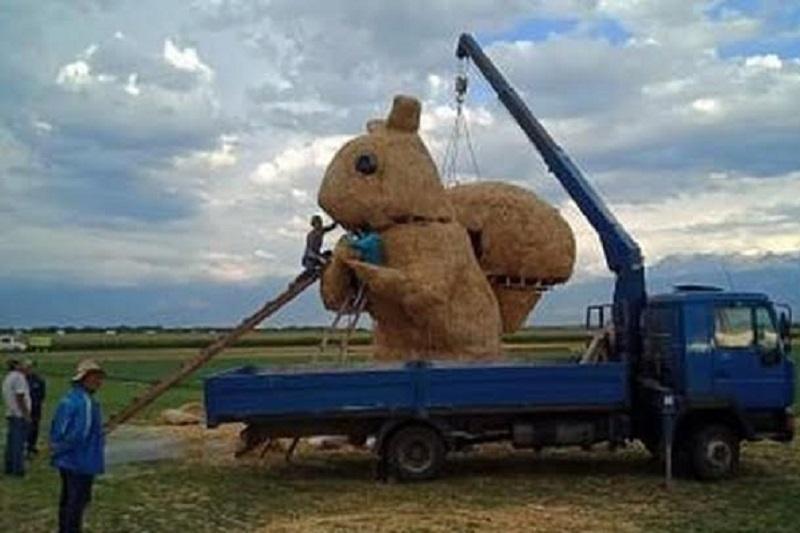 Алматы облысында сабан шөптен жасалған тиін пайда болды