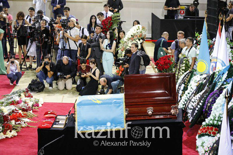 Sport Minister reads out condolence letter from Nursultan Nazarbayev