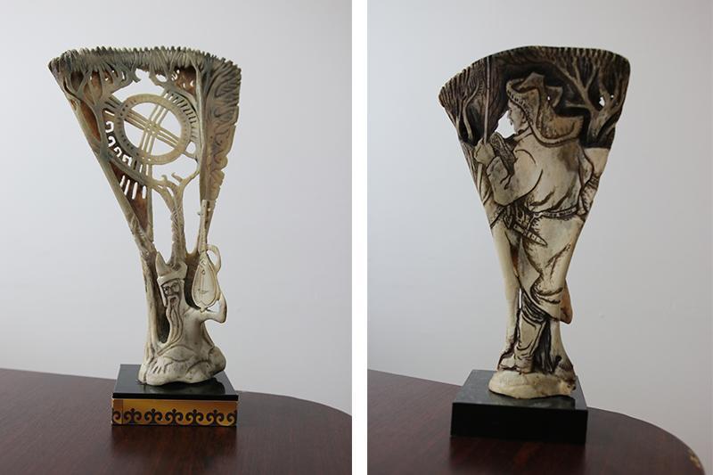 Костяные статуэтки акмолинского художника покоряют мир
