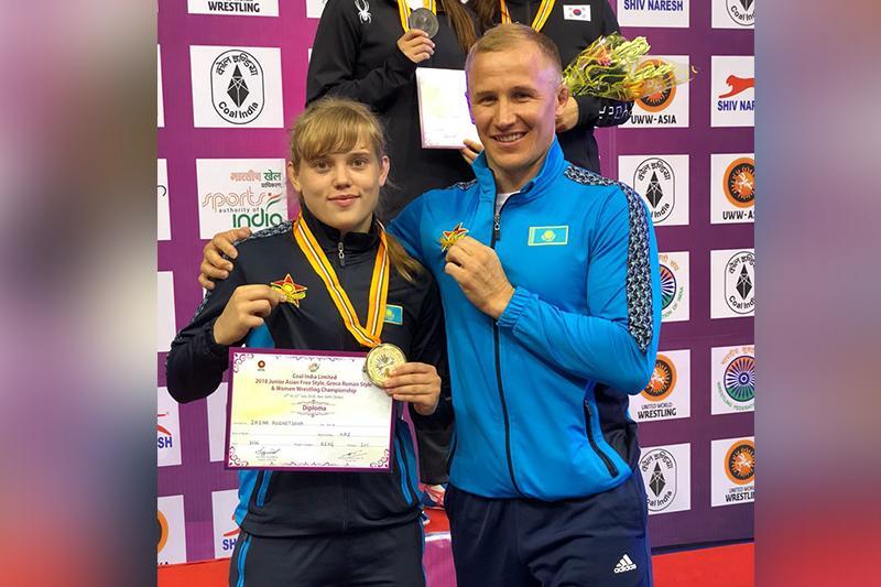 Ирина Кузнецова завоевала золотую медаль чемпионата Азии по борьбе