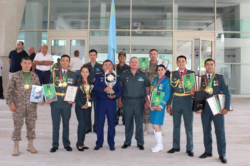 Казахстанцы заняли первое место на международном конкурсе «Воин Содружества» в Армении