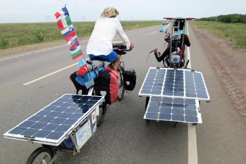 В Казахстане побывали участники веломарафона The Sun Trip
