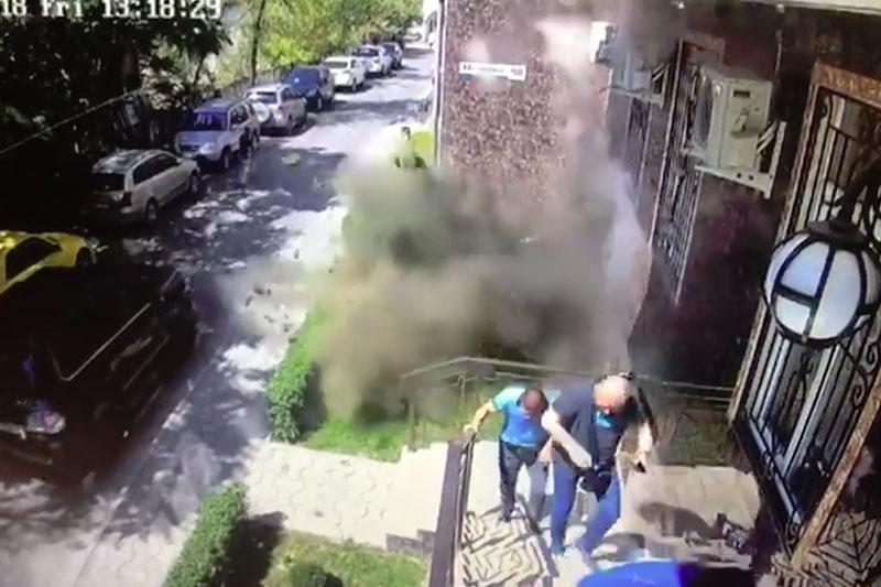 В центре Бишкека произошёл взрыв