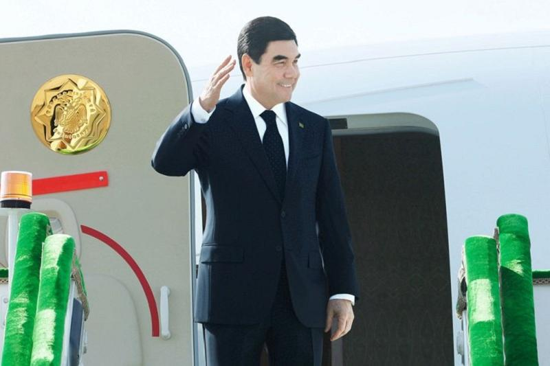 Turkmenistan President arrives in Aktau for Caspian Summit