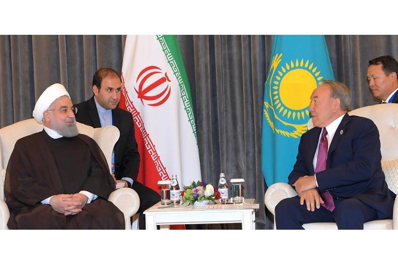 President Nazarbayev meets his Iranian counterpart