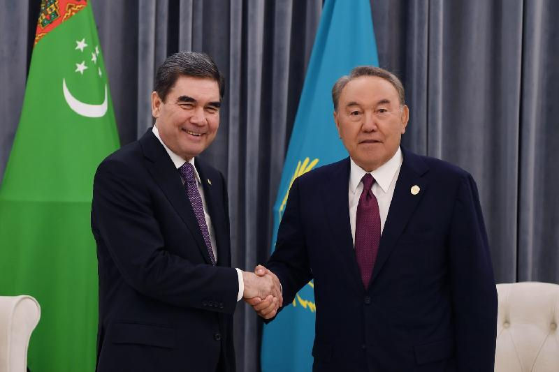 Nazarbayev holds meetings with Turkmen, Azerbaijani leaders in Aktau