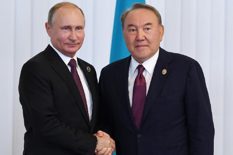 Nazarbayev, Putin discuss 5th Caspian Summit outcomes