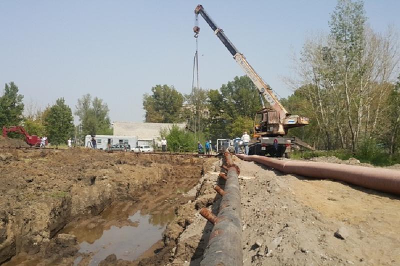 Накопитель грунтовых и ливневых вод начали строить в Павлодаре