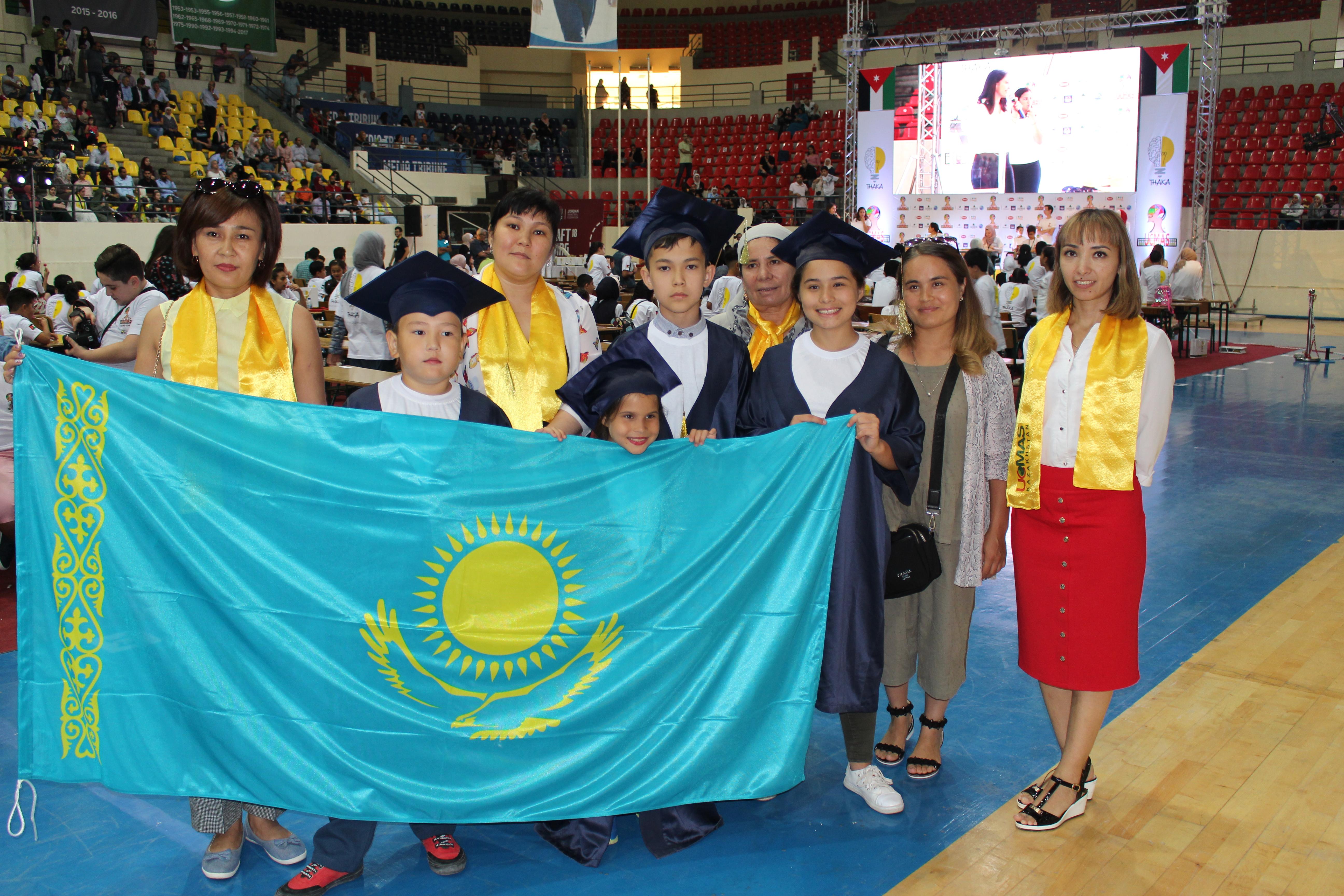 Юные казахстанцы завоевали награды конкурса UCMAS в Иордании