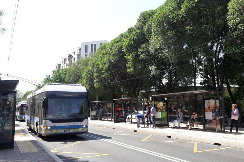 Новые правила движения вводят в Алматы на улице Тимирязева