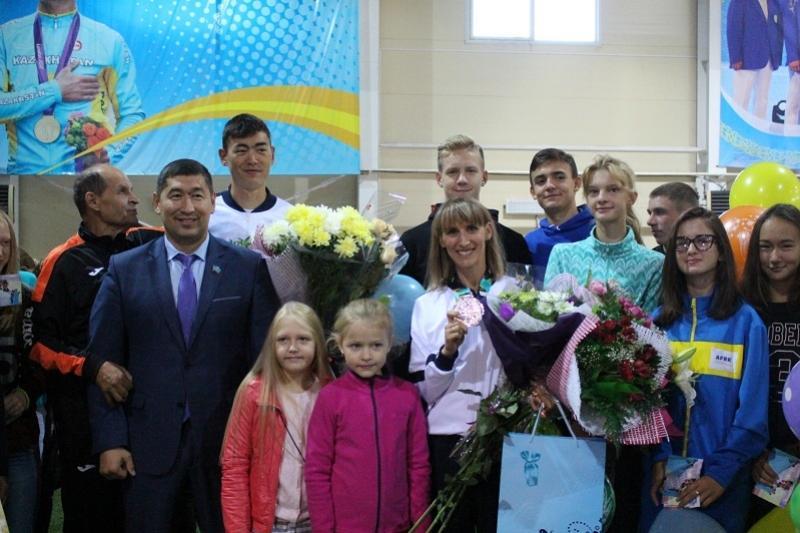 Призеров Азиады чествовали в Петропавловске