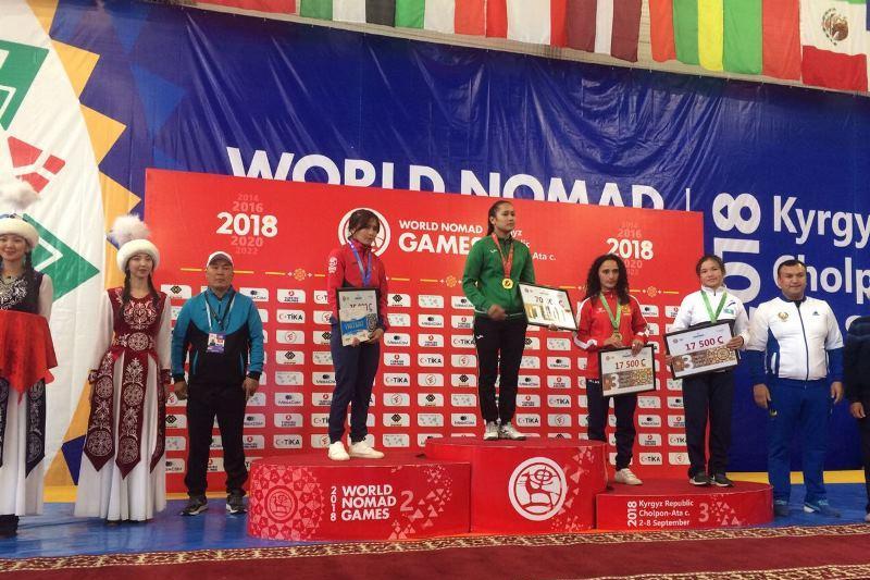 Kazakhstan wins 2 silver and 3 bronze in Belt Wrestling