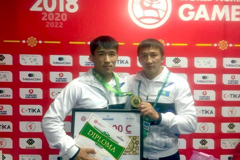 Kazakh Gumar Kyrgyzbayev scores belt wrestling bronze World Nomad Games