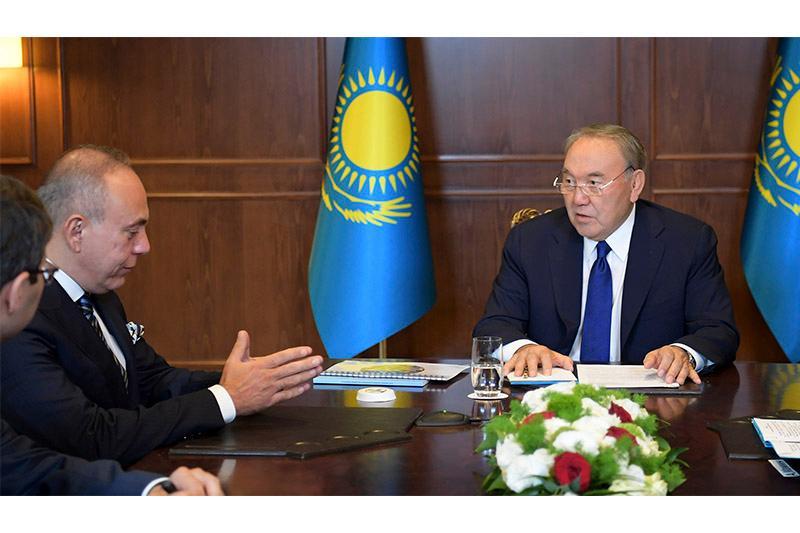 Kazakh President, OYAK Holding CEO had talks
