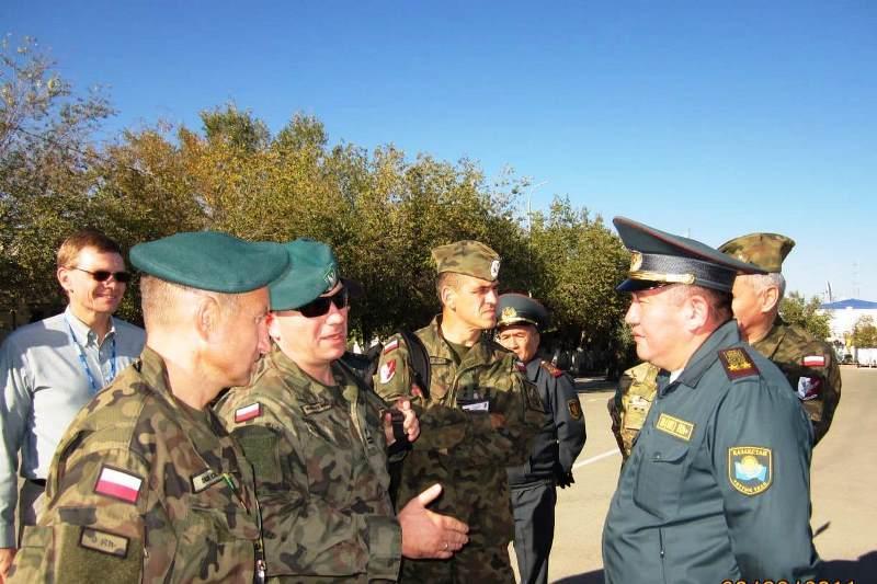 Делегация военных наблюдателей ОБСЕ посетила воинскую часть Нацгвардии РК