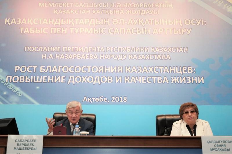 Солнечными батареями и водяными скважинами призвал обеспечить сельчан Бердыбек Сапарбаев