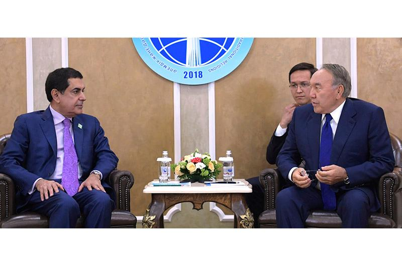 President Nazarbayev meets with High Representative for the UN Alliance of Civilizations
