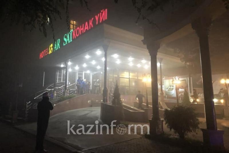 В Алматы горела гостиница
