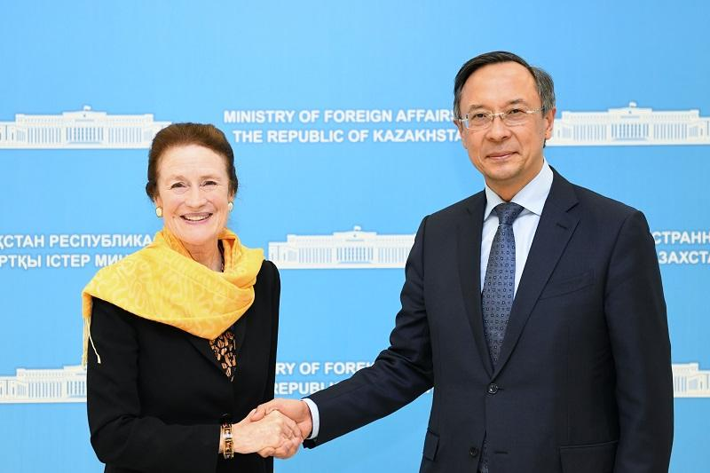 Foreign Minister, UNICEF Executive Director meet in Astana