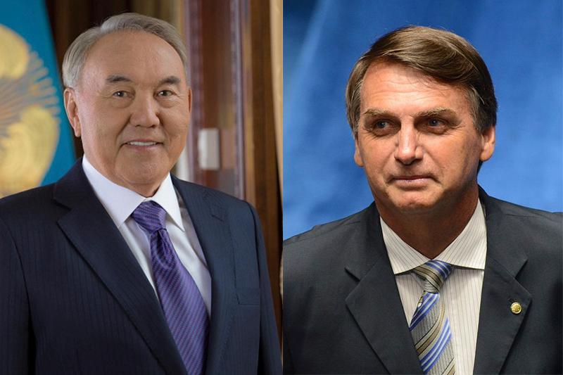 Нурсултан Назарбаев поздравил Жаира Болсонару с избранием на пост президента Бразилии