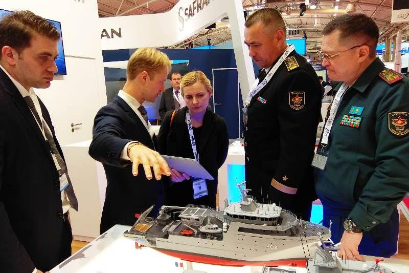 Kazakh military delegation attends EURONAVAL expo in Paris