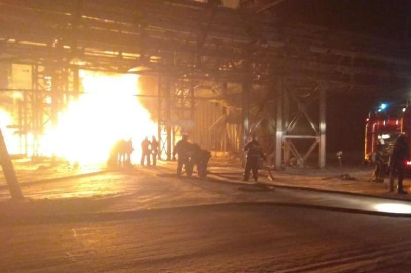 «АрселорМиттал» АҚ газ құбырынан шыққан өрт сөндірілді