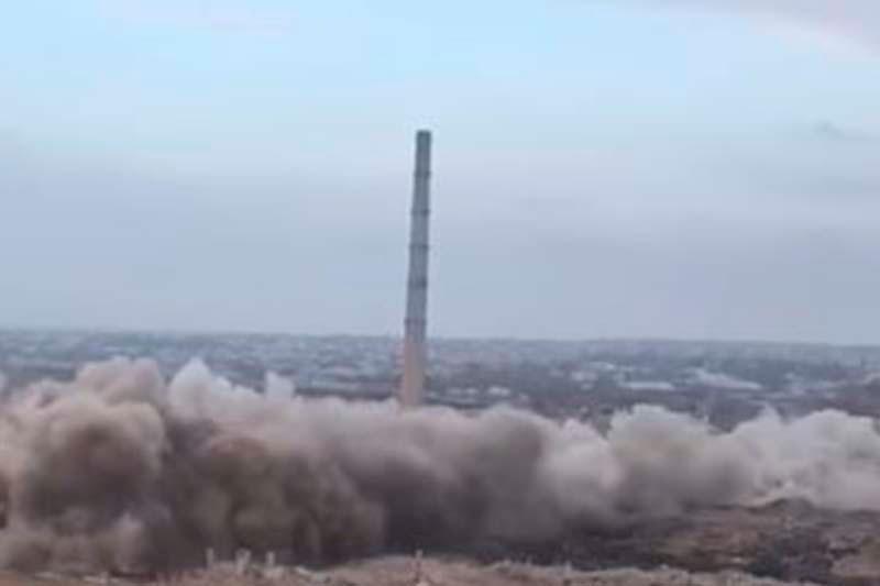 Снос 210-метровой трубы в Шымкенте прокомментировали в ДЧС
